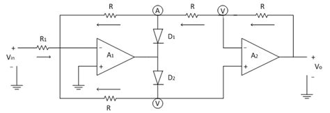 modified precision full wave rectifier electronics tutorial