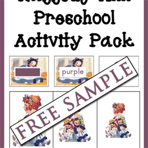 early learning homeschool with 615 | Raggedy Ann Preschool Activity Pack Free Sample cover 600h 400x400