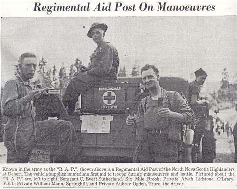 Regimental Aid Post On Manoeuvres Left to Right