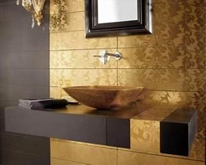 Wandfarbe Für Bad : badezimmer gardinen gold ~ Michelbontemps.com Haus und Dekorationen