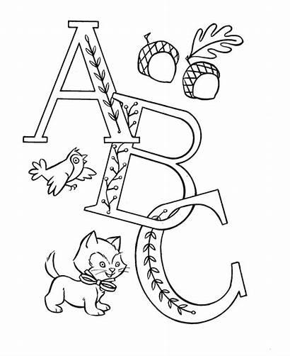 Coloring Pre Alphabet Abc Sheets Letters Printable