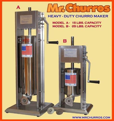 Churros Makers   5 and 15 pound presses