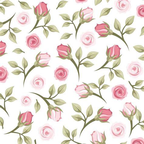 Papel De Parede Branco C/ Flores Rosas Delicadas Adesivo