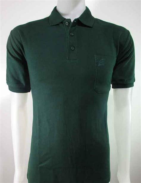 jual kaos kerah polo shirt hijau tua polos murah