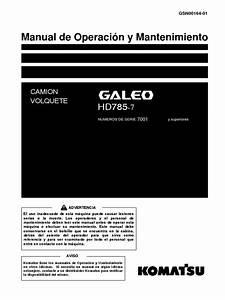 Manual De Taller Komatsu Galeo Hd785