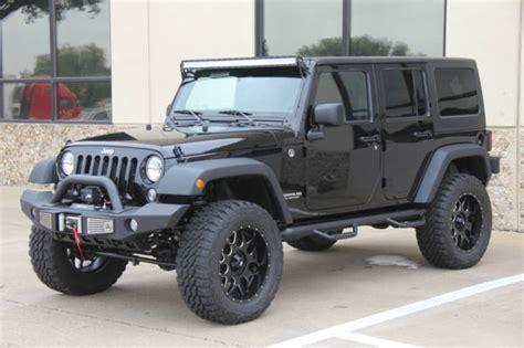 wrangler jeep 4 door black 2015 black jeep wrangler 4 door lifted on 35s 8 miles