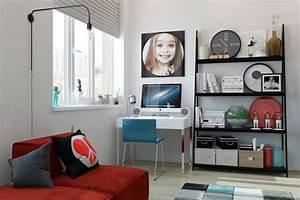 deco theme musique dans deux domiciles contemporains With tapis jaune avec meuble rangement derrière canapé
