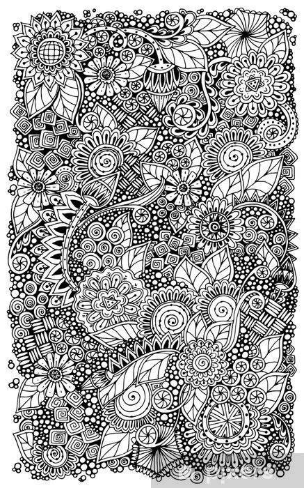 Intricate Zentangle | Doodle background, Zentangle