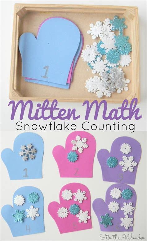mitten math snowflake counting for preschoolers winter 701 | 3414bfbd66f8358367c4ad7d172f7d94 math games for preschoolers preschool number activities