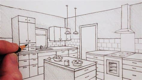 draw  room   point perspective time lapse