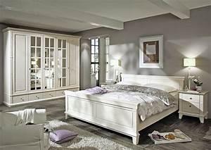 Schlafzimmer Weiß Grau : lmie georgia kiefer massiv wei grau m bel letz ihr online shop ~ Frokenaadalensverden.com Haus und Dekorationen