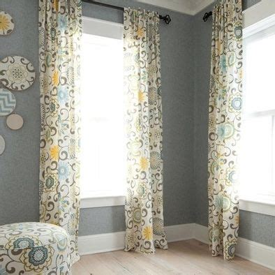 curtains i used this fabric waverly pom pom play print
