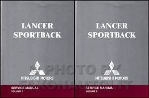 2004 Mitsubishi Lancer Repair Shop Manual Original 4