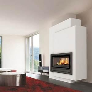 Cheminée Bois Design : cheminee insert moderne ~ Premium-room.com Idées de Décoration