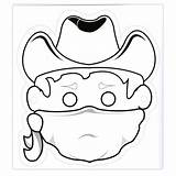 Wild Drawing Bandit West Cowboy Mask Cow Kratts Masks Masker Cowboys Cowgirl Clipart Lobbes Masque Crafts Own Imprimer Coloring Clipartmag sketch template