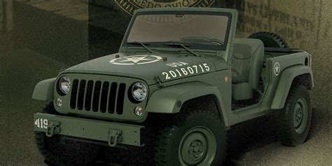 jeep military jeep 75th anniversary jeep wrangler concept celebrates