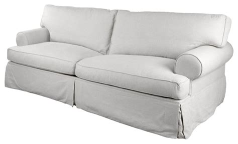 langley tailored slipcover  sofa white beach style