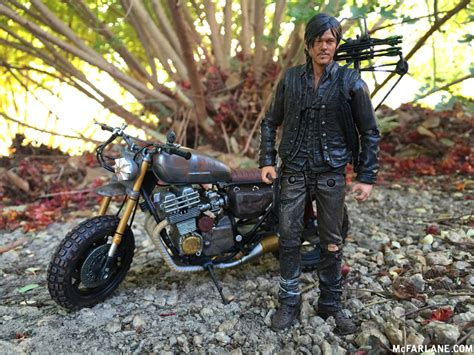 The Walking Dead 5-inch Daryl Dixon With Motorcycle New