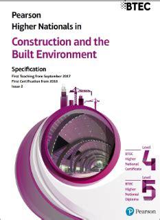 btec higher nationals construction   built