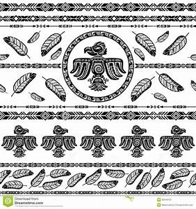 Indian Tribal Pattern Background Stock Vector - Image ...