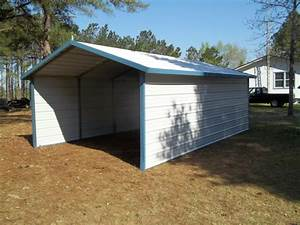 Single A Frame Carport With Enclosed Sides RB Metal