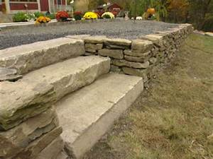 Construction En Pierre : construction d un mur de sout nement en pierre s che ~ Premium-room.com Idées de Décoration