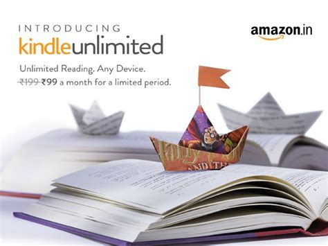 amazon kindle unlimited subscription launched  rs