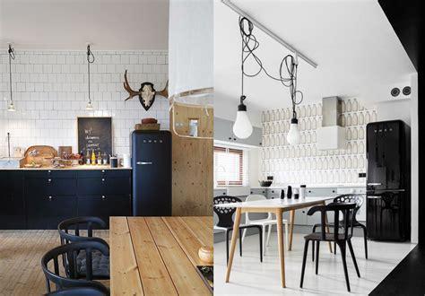 cuisine avec frigo smeg une cuisine rétro avec le frigo smeg
