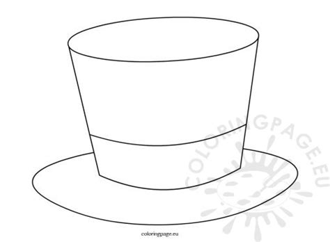 top hat template birthday coloring page