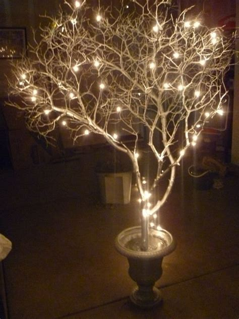 how to put lights on tree branches 10 diy manzanita centerpieces wedding lighted tree home is wherever we are if there