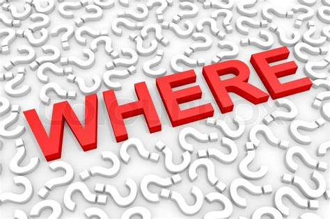 Where Is Clipart In Word Where Word Around Questions Stock Photo Colourbox