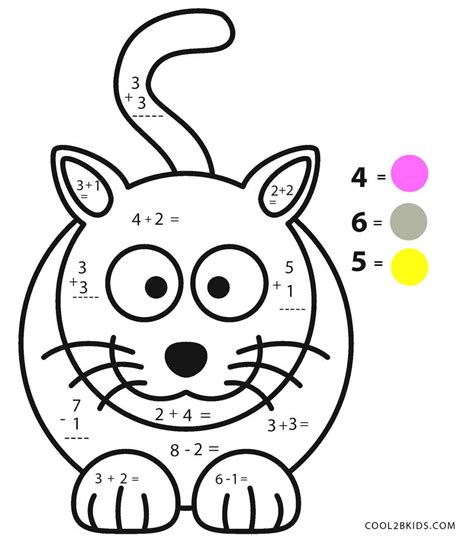 Coloring Math Worksheets by Free Printable Math Coloring Pages For Cool2bkids