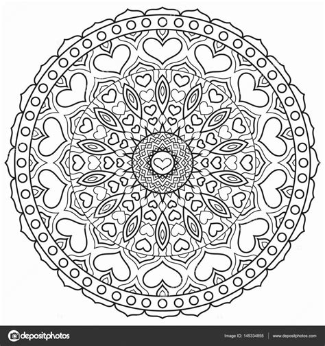 Kleurplaat Hartjes Mandala by Mandala Kleurplaat Hartjes Mandala Met Hart Voor