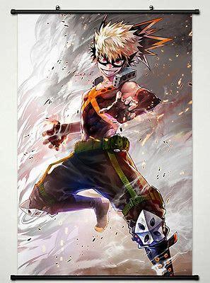 wall scroll poster  anime  hero academia katsuki bakugou  painting calligraphy