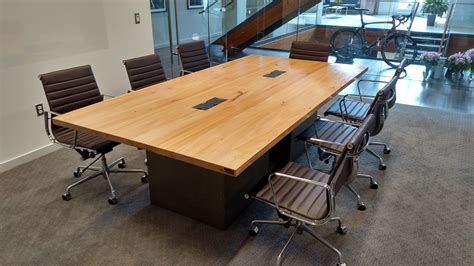 steelcase under light hand made reclaimed wood and steel industrial conference