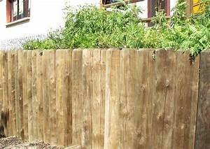 Holz Im Garten : holz im garten holzpalisaden an einer b schung ~ Frokenaadalensverden.com Haus und Dekorationen