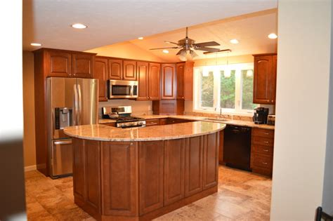 kitchen remodel with two tier island traditional - Two Tier Kitchen Island Designs