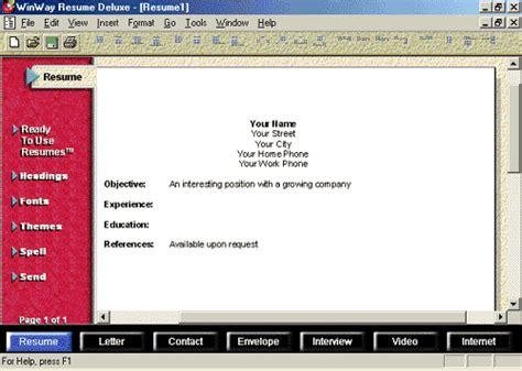 Winway Resume by Winway Resume Deluxe 9