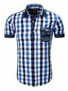 Chemise Homme A Carreau : chemise homme carreau bleu pas cher 9053 pour 29 90 ~ Melissatoandfro.com Idées de Décoration