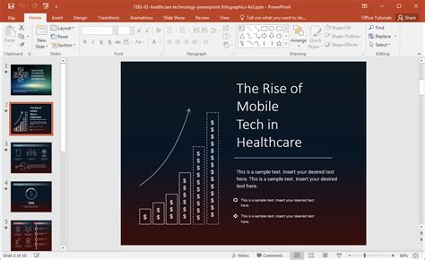 healthcare technology infographics template  powerpoint