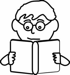 Kids Reading Clipart Black And White | Clipart Panda ...