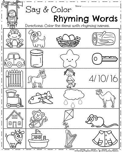 Spring Kindergarten Worksheets  Sheets  Pinterest  Kindergarten Worksheets, Worksheets And