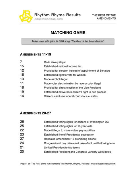 14 Best Images Of Amendment Matching Worksheet  27. Les Paul Guitar Template. Sticker Charts For Toilet Training Template. Informal Two Weeks Notice Letter Template. Attendance Template Excel. Invoce Sample Pics. Esthetician Resume Examples. Office Manager Cover Letter Template. Make Free Invitations To Print Template