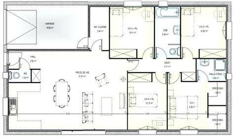 plan maison 5 chambres plain pied plan maison 5 chambres gratuit 9 plans de plain pied