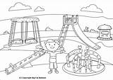Park Coloring Swing Playing Clipart Children Pages Playground Slide Drawing Outline Drawings Kid Sketch Diagram Getdrawings Getcolorings Printable Mangal Sakshi sketch template