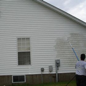 exterior cleaning professional power washer house wash