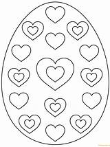 Easter Egg Coloring Pages Colouring Hearts Printable Eggs Heart Pattern Zum Supercoloring Ausmalen Osterei Bunny Designs Patterns Ausmalbilder Mit Sheets sketch template