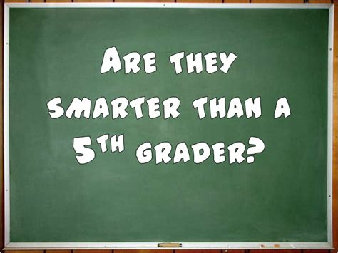Are You Smarter Than A 5th Grader Powerpoint Template by Are They Smarter Than A 5th Grader 1