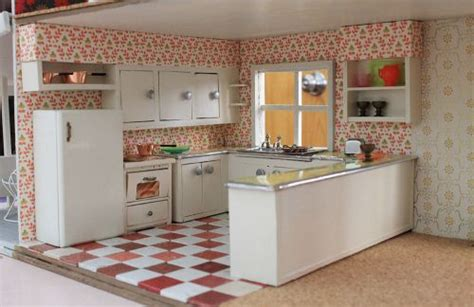 A Vintage + Custom Kitchen For The Betsy Mccall Dollhouse