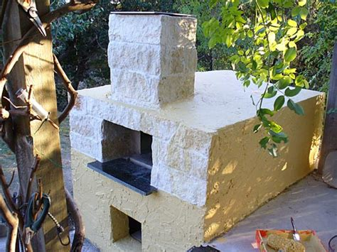 oven finished  stucco  match  house